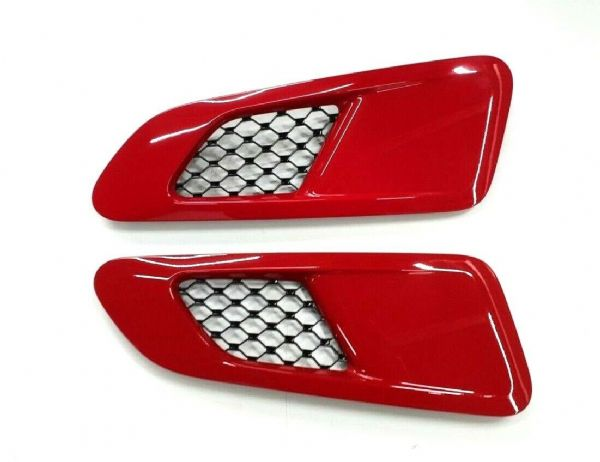 Genuine Brand New Jaguar F-Type Supercharged Bonnet Vents In Salsa Red